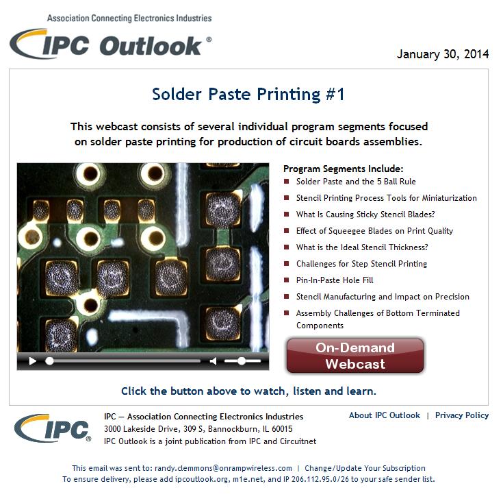 PCB Designer: Solder Paste Pring - IPC Outlook