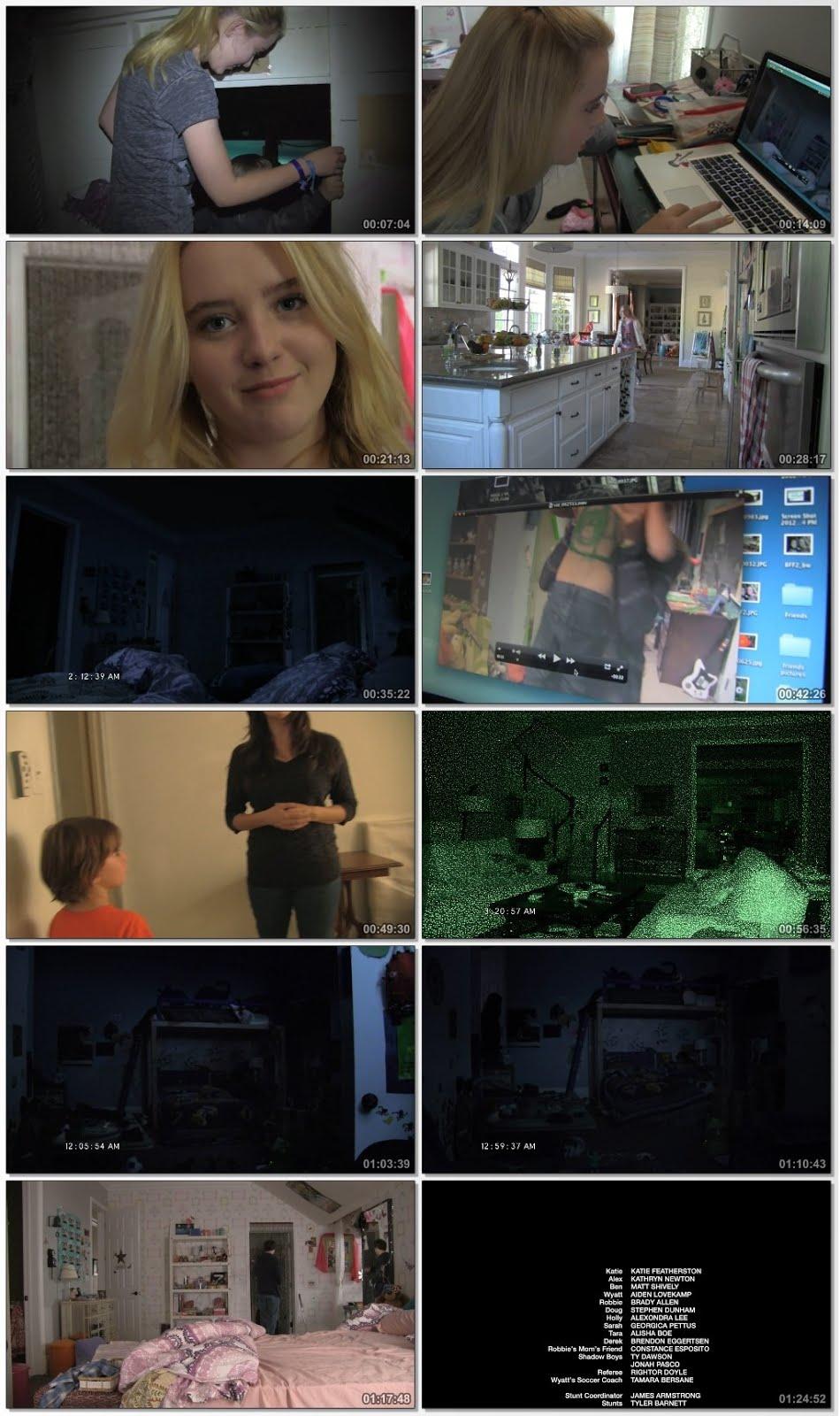 Screen Shot Of Paranormal Activity 4 2012 In Hindi English Dual Audio Bluray
