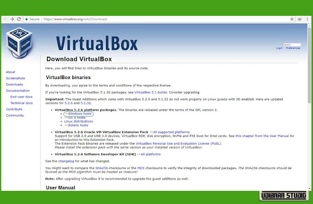 INSTALASI VIRTUAL BOX : Download VirtualBox