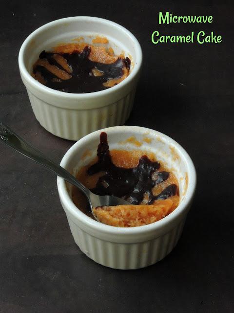 Easy Microwave Caramel Cake