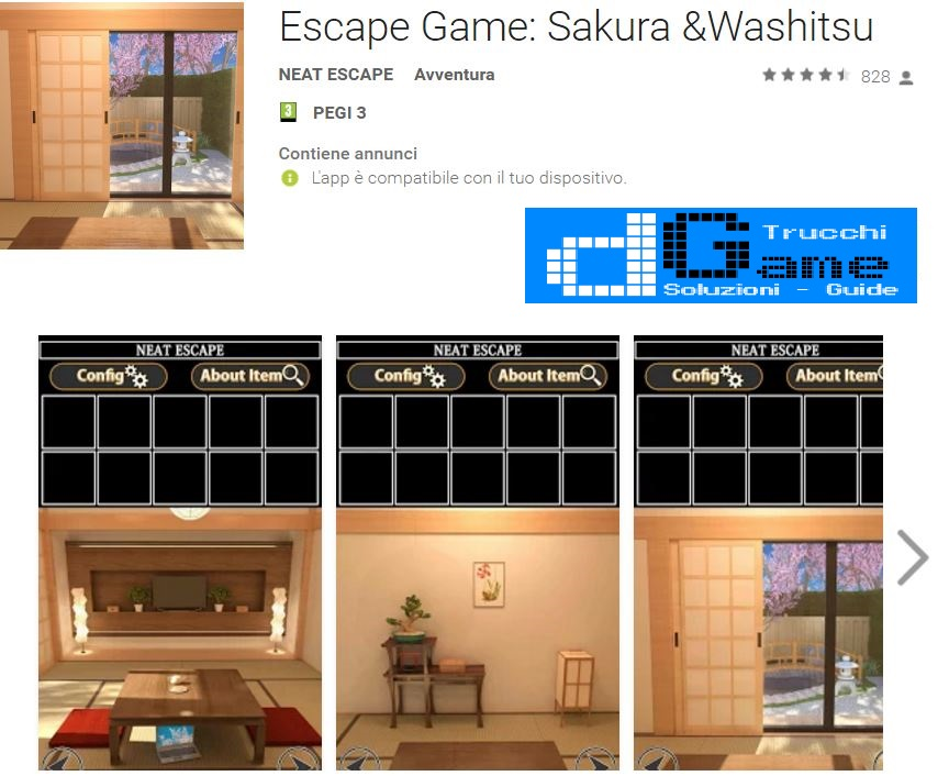 Soluzioni Escape Game: Sakura &Washitsu di tutti i livelli | Walkthrough guide