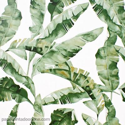 Papel Pintado Naturaleza Hojas Verdes 037