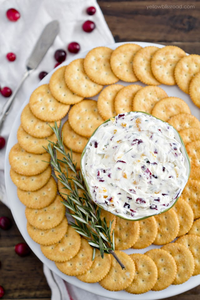 Cranberry Rosemary Cheese Spread Recipe