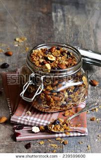 granola-frutos secos-miel-avena