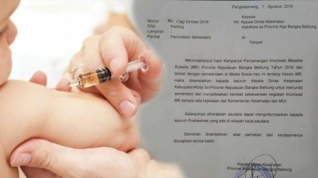 Vaksin MR Positif Mengandung Unsur Babi Dan Organ Manusia