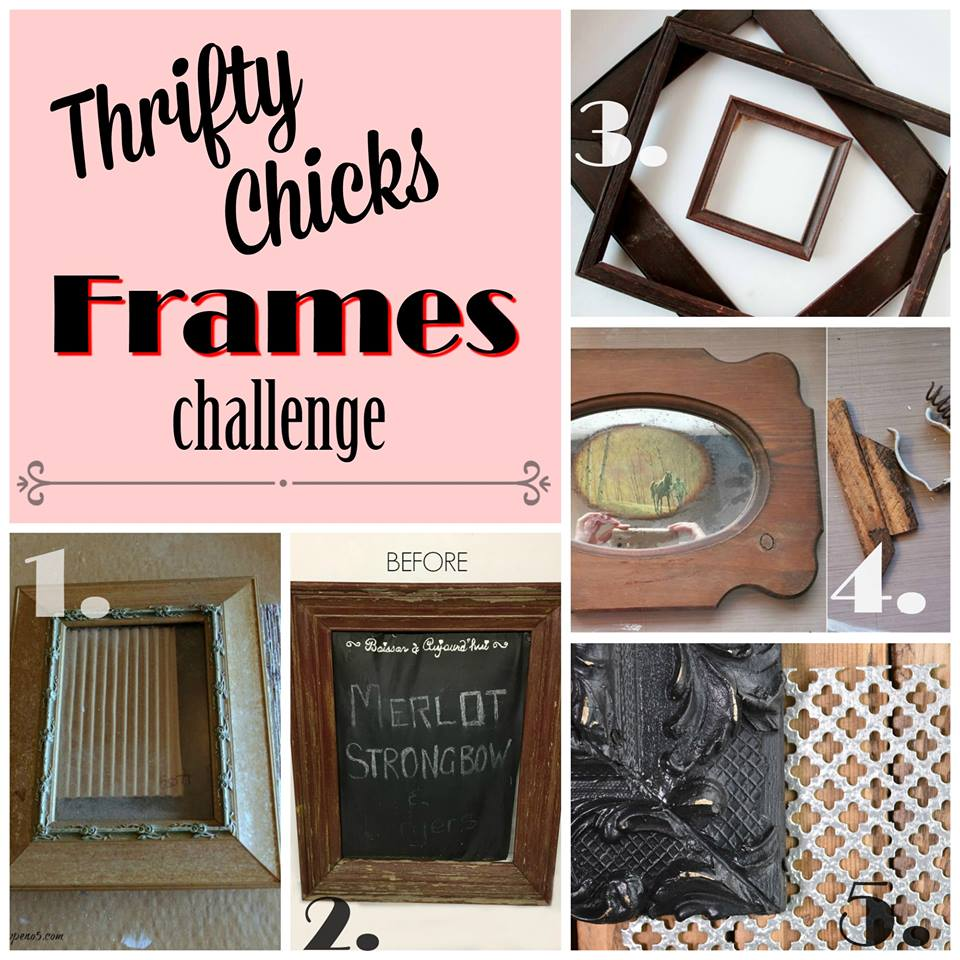 Thrifty Chicks Group Frame Challenge Before Photos