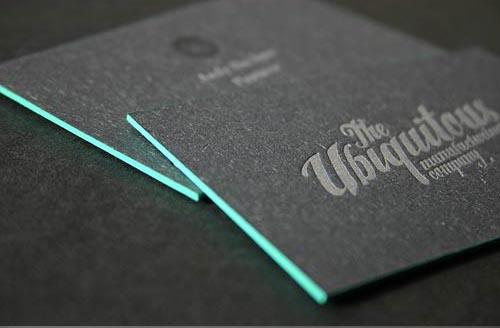 20 Black  Grey Letterpress Business Cards Mow Design Graphic - letterpress business card
