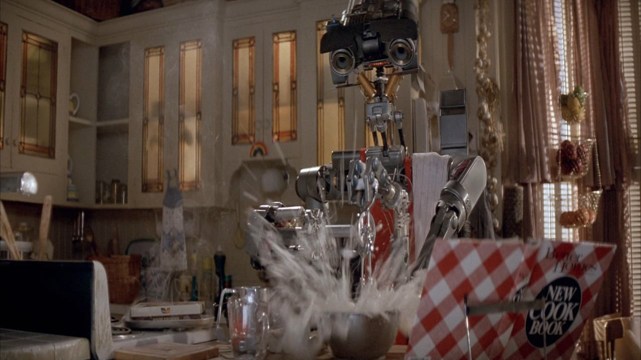 Movie Review Short Circuit 1986 The Ace Black Blog Robots An Anti War Teen Oriented Comedy Features A Cute Robot But Otherwise Perfunctory Characters And Plot Points