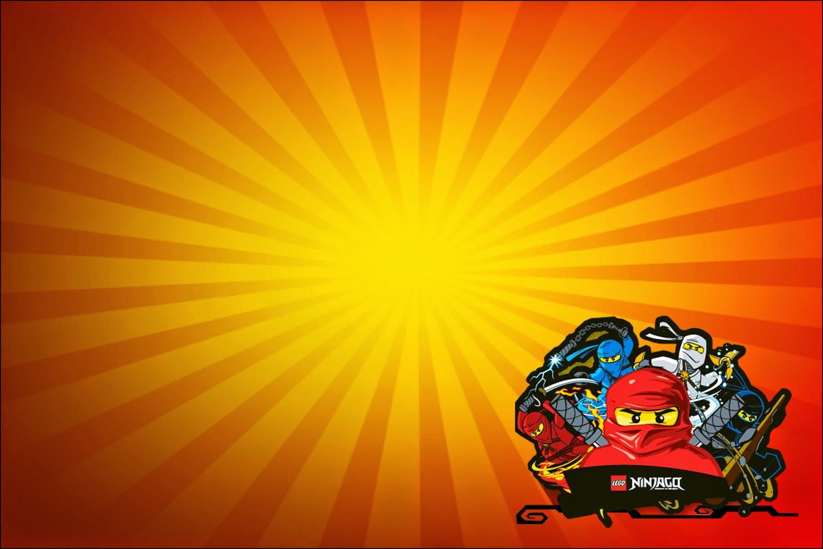 ninjago free printable invitations