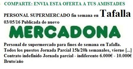 Tafalla, Pamplona, Navarra. Lanzadera de Empleo Virtual. Oferta Mercadona