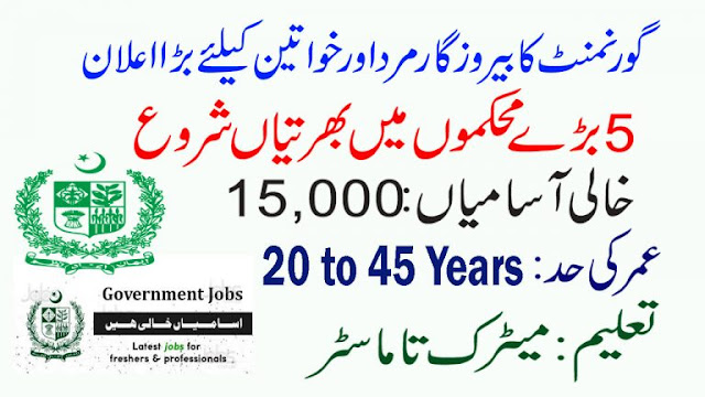 15000+New Vacancies Government Jobs in Pakistan 2020