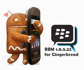Download BBM v.1.0.5.22.apk Final for Android 2.3.3 Gingerbread Update
