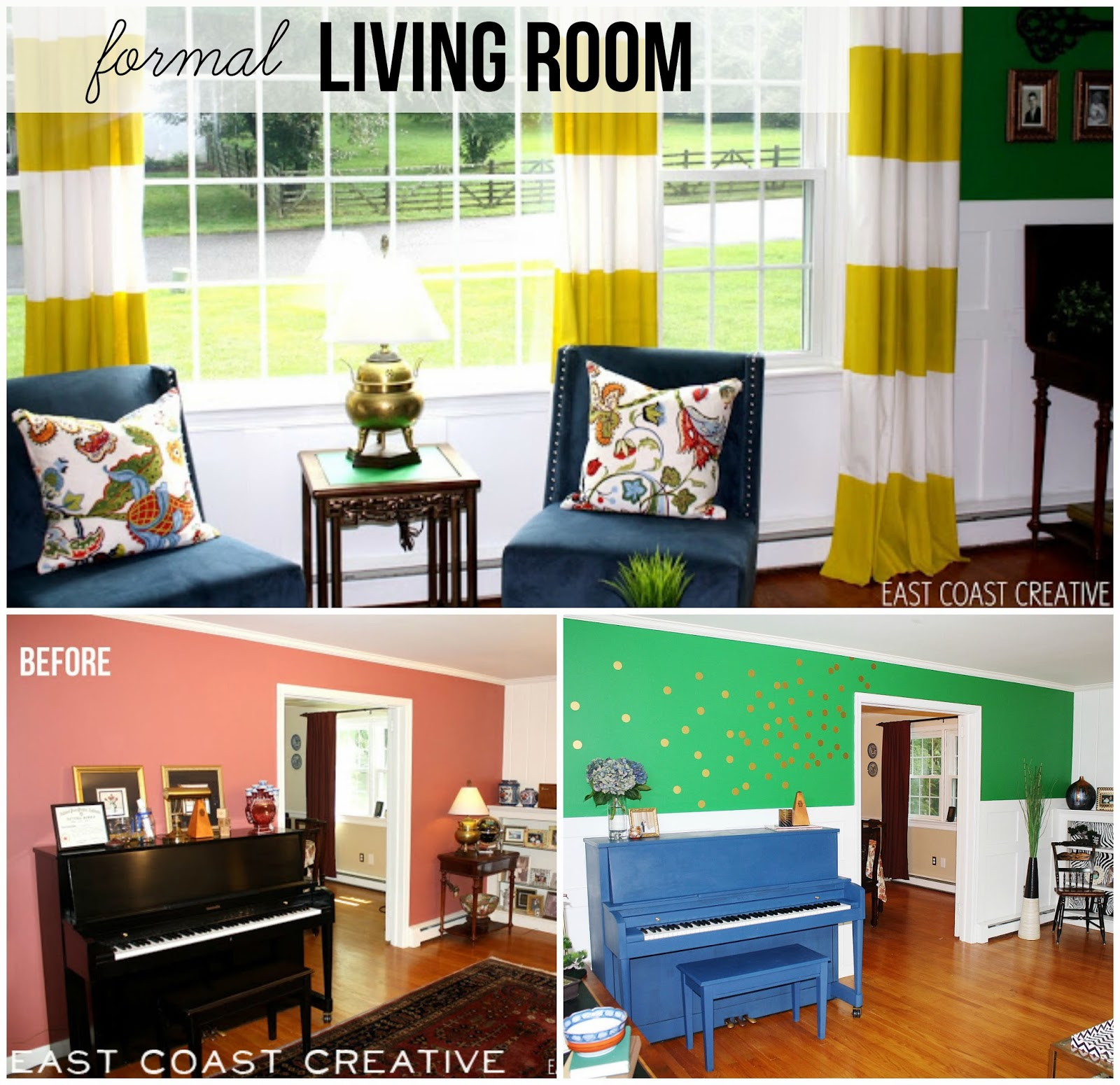 Formal Living Room Makeover {Knock It Off}