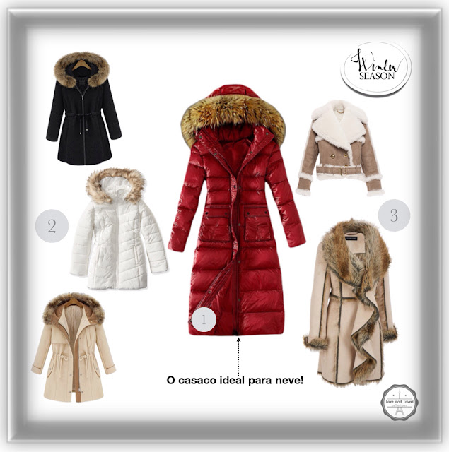 look casacos de inverno europeu neve