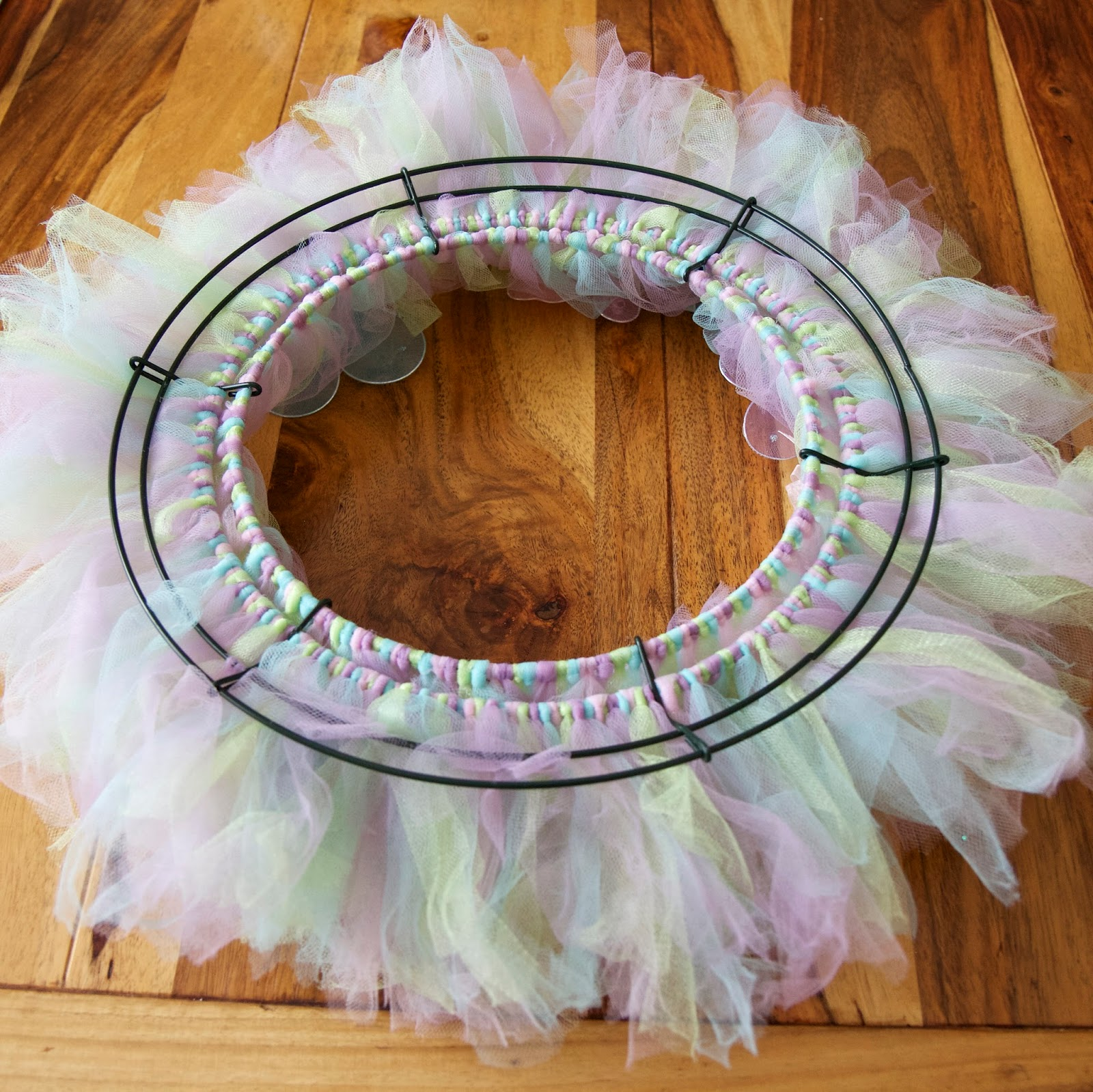 Love The Journey Easter Tulle Wreath