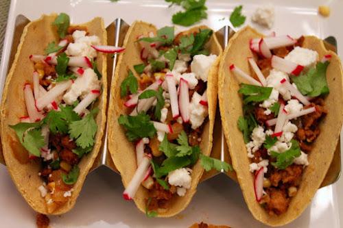 Corn-Chorizo Tacos