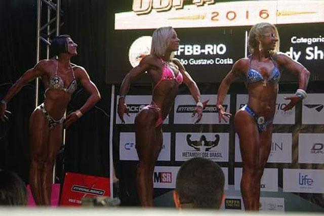 Jaiana Lomeu competiu na categoria Body Fitness acima de 1,63 m. Foto: Cristina Ariana