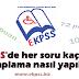 EKPSS'de her soru kaç puan, hesaplama nasıl yapılıyor?