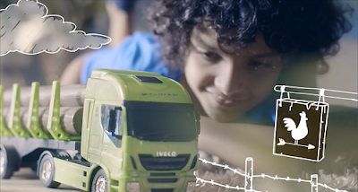 Caminhões IVECO passeiam no universo lúdico em vídeo infantil