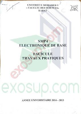 Polycopié de travaux pratiques d'Électronique de base smp s4