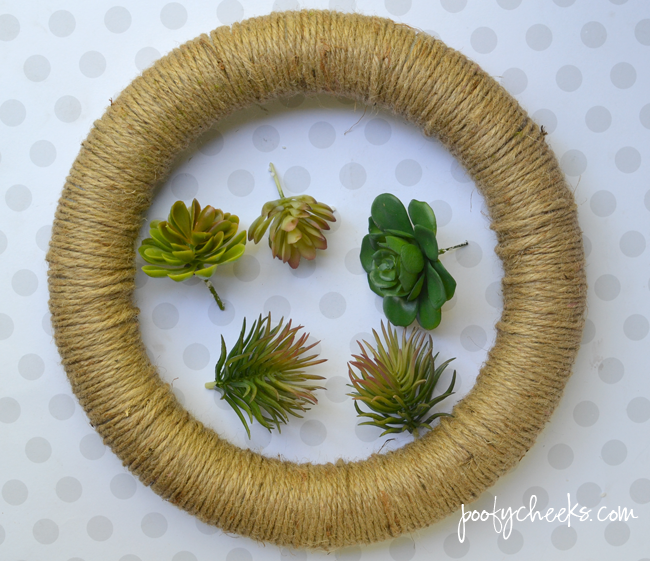 Craft a Wreath with Fake Succulent Plants for Spring and Summer