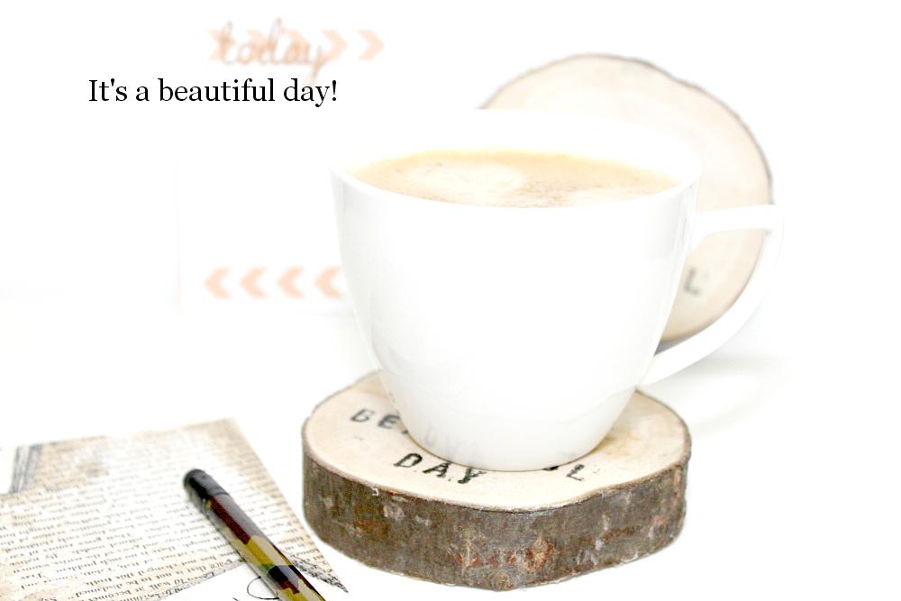 poranek z kawą