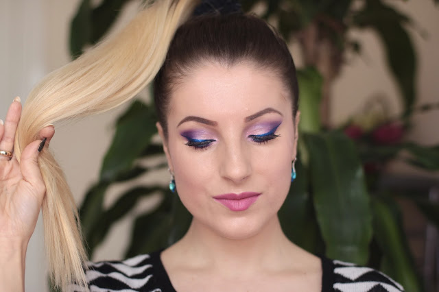 Beauty Makeup - Niebieski Metalic z Fioletem