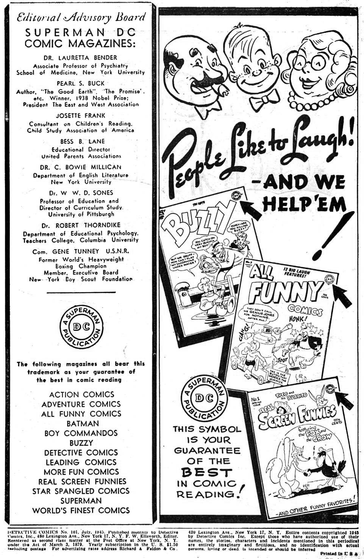 Read online Detective Comics (1937) comic -  Issue #101 - 2