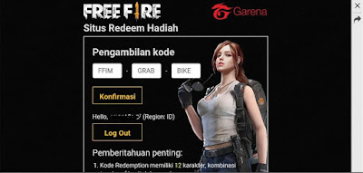 Kode Redeem FF FFIM - HAAI - 0UPQ dan FFIM - GRAB - BIKE