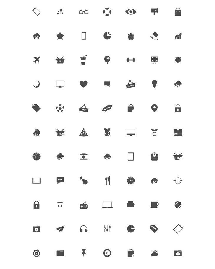 80+ Free Vector Icon Set