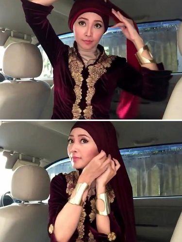 jilbab turban instan