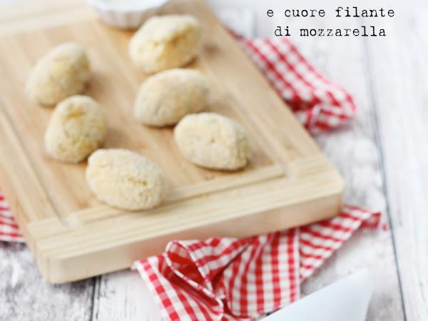 Crocchette di patate con tonno e cuore filante di mozzarella