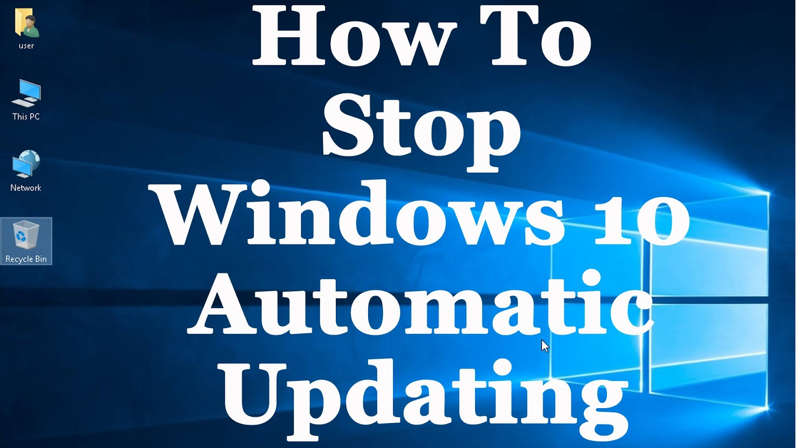 how to turn off auto update windows 10 home