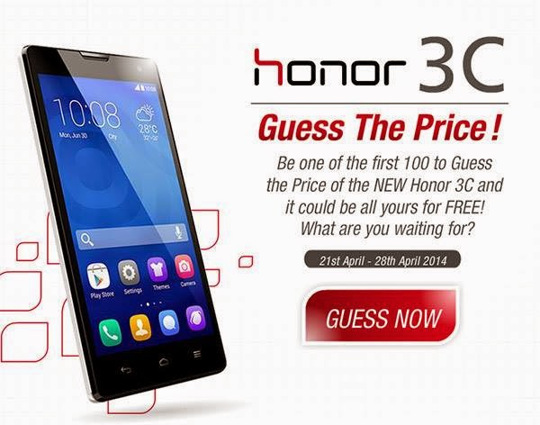 "Honor 3C ""Guess the Price"" contest"