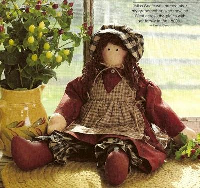miss sadie doll pattern, denise clason