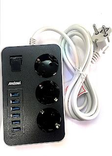 multipresa ciabatta elettrica nuovo 6 usb