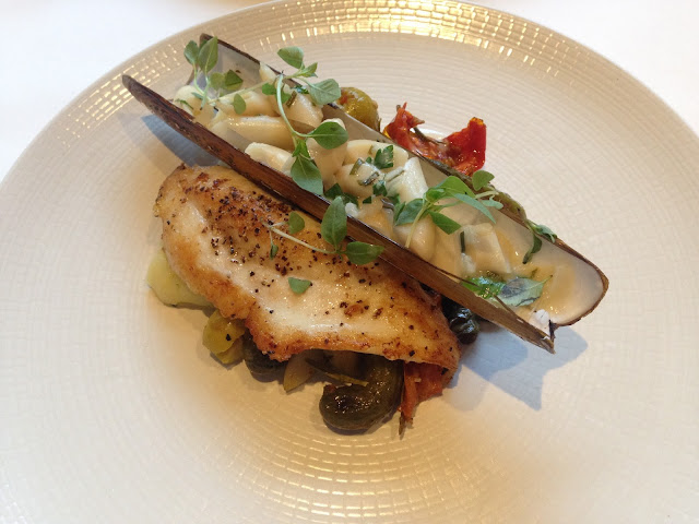 Razor Clams with John Dory, gherkins and olives