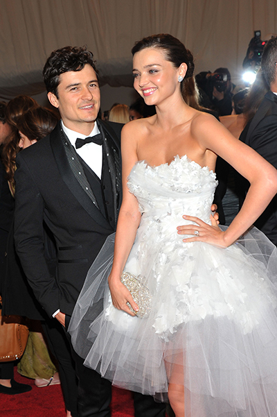 Orlando Bloom with Miranda Kerr