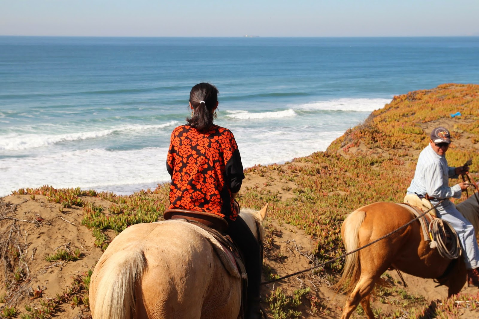 Finally We Arrived At The Beach It Was Absolutely Fantastic Experience Riding A Horse Nice My Wife Scared So Our Wrangler Put Some Ropes