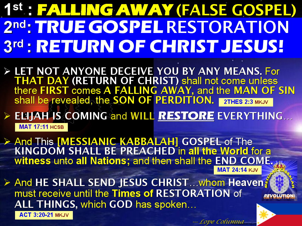The BRIDE OF CHRIST Ministry of Life: The FALLING AWAY