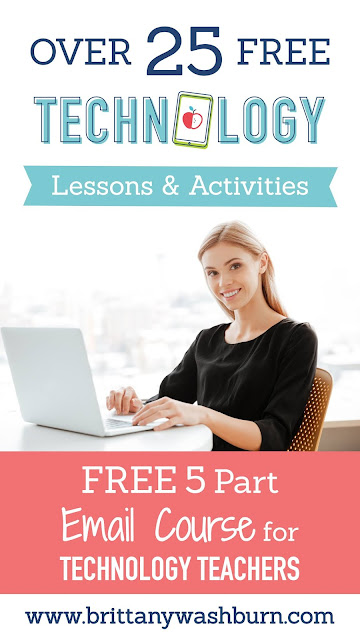 Here is a unique opportunity to get access to over 25 FREE technology lessons/activities plus learn how I organize my technology lab classroom.