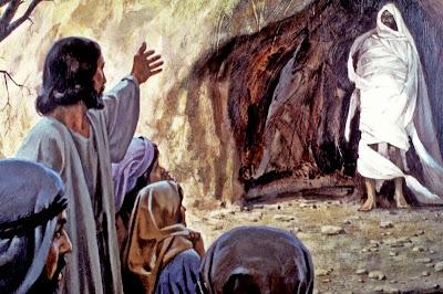 A ressuscitação de Lázaro,  a incrível fábula sobrenatural de além túmulo qua a bíblia narra.