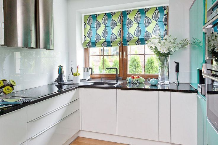 25 modern kitchen curtains design ideas 2016 living rooms gallery - Modern valances for kitchen ...