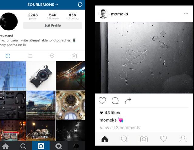instagram rediseña su aplicacion