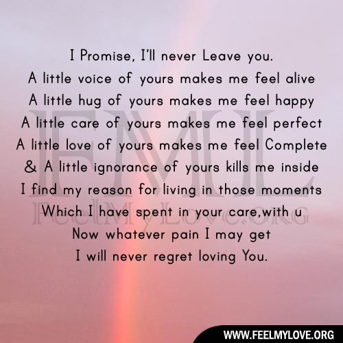 I ll never leave you quotes