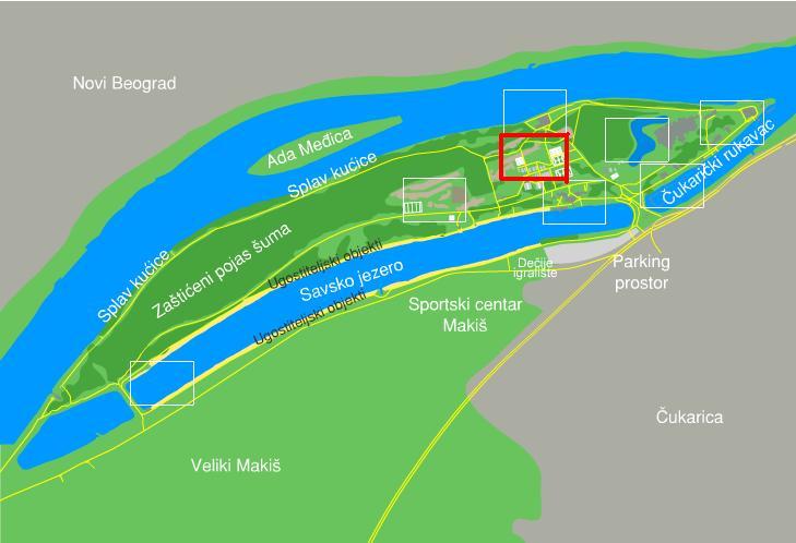 Beograd Ada Ciganlija Mapa Superjoden
