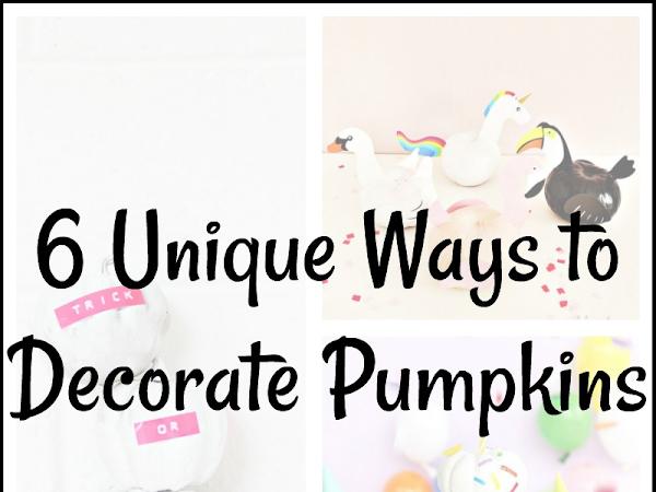 6 Unique Ways to Decorate Pumpkins
