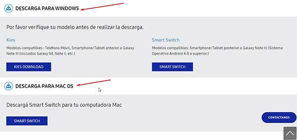 Descarga de controladores Samsung USB