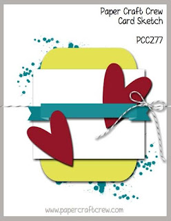 Paper Craft Crew Card Sketch Challenge #PCC277 using Stampin' Up! Products Order from Mitosu Crafts UK Online Shop