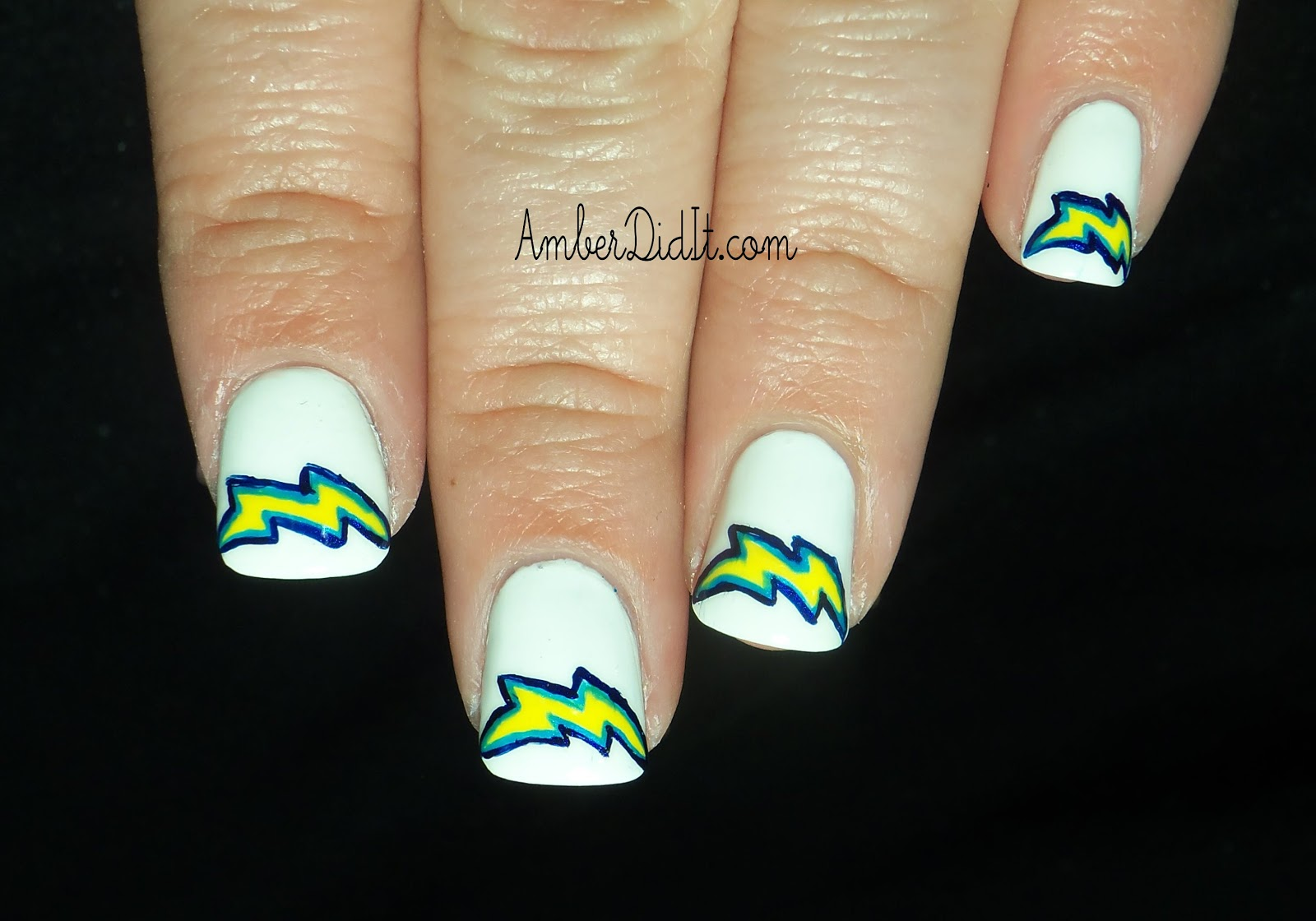 Amber did it!: NFL Series #14~ San Diego Chargers Nails